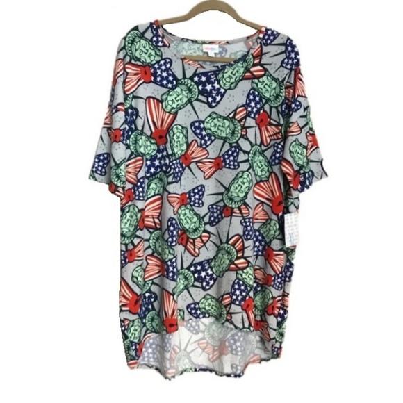 LuLaRoe Tops - LulaRoe Americana Irma Tunic Shirt Top Size XL NWT